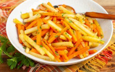 Honey Garlic Carrots and Parsnips