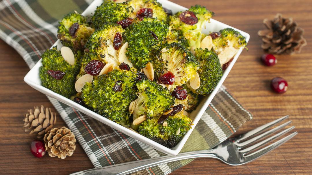 Cranberry Almond Roasted Broccoli