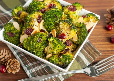 Cranberry Almond Roasted Broccoli