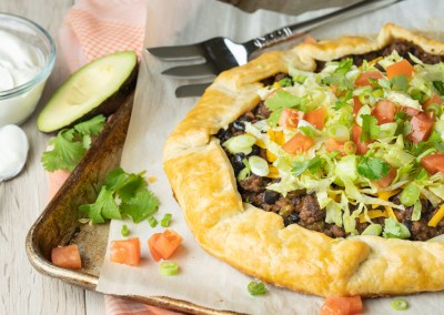 Beef Taco Crostada