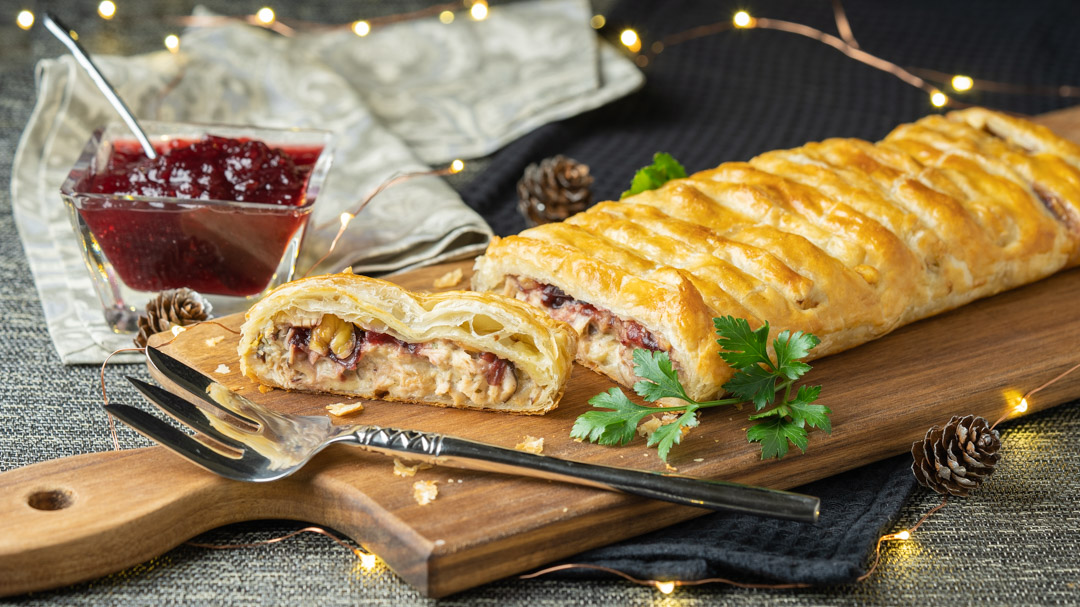 Turkey & Chestnut Pastry Slice