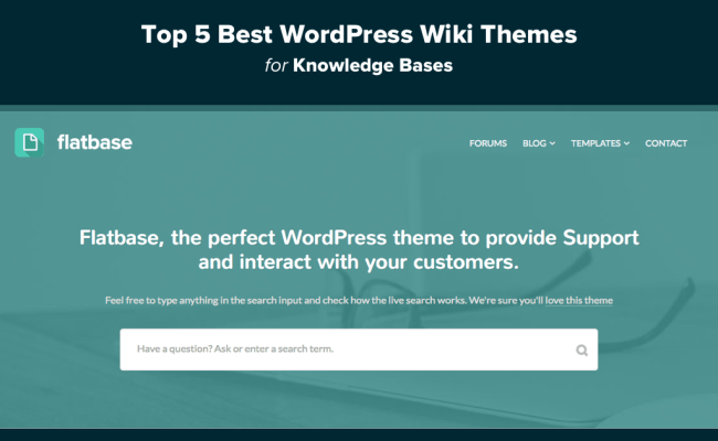Top 5 Best Wordpress Wiki Themes For Knowledge Bases 2018