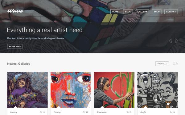 Top 5 Wordpress Themes Painters Art Portfolios