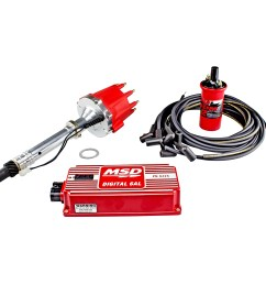 power products billet racing ignition kit chev sb bb w slip collar red or black [ 1500 x 1500 Pixel ]