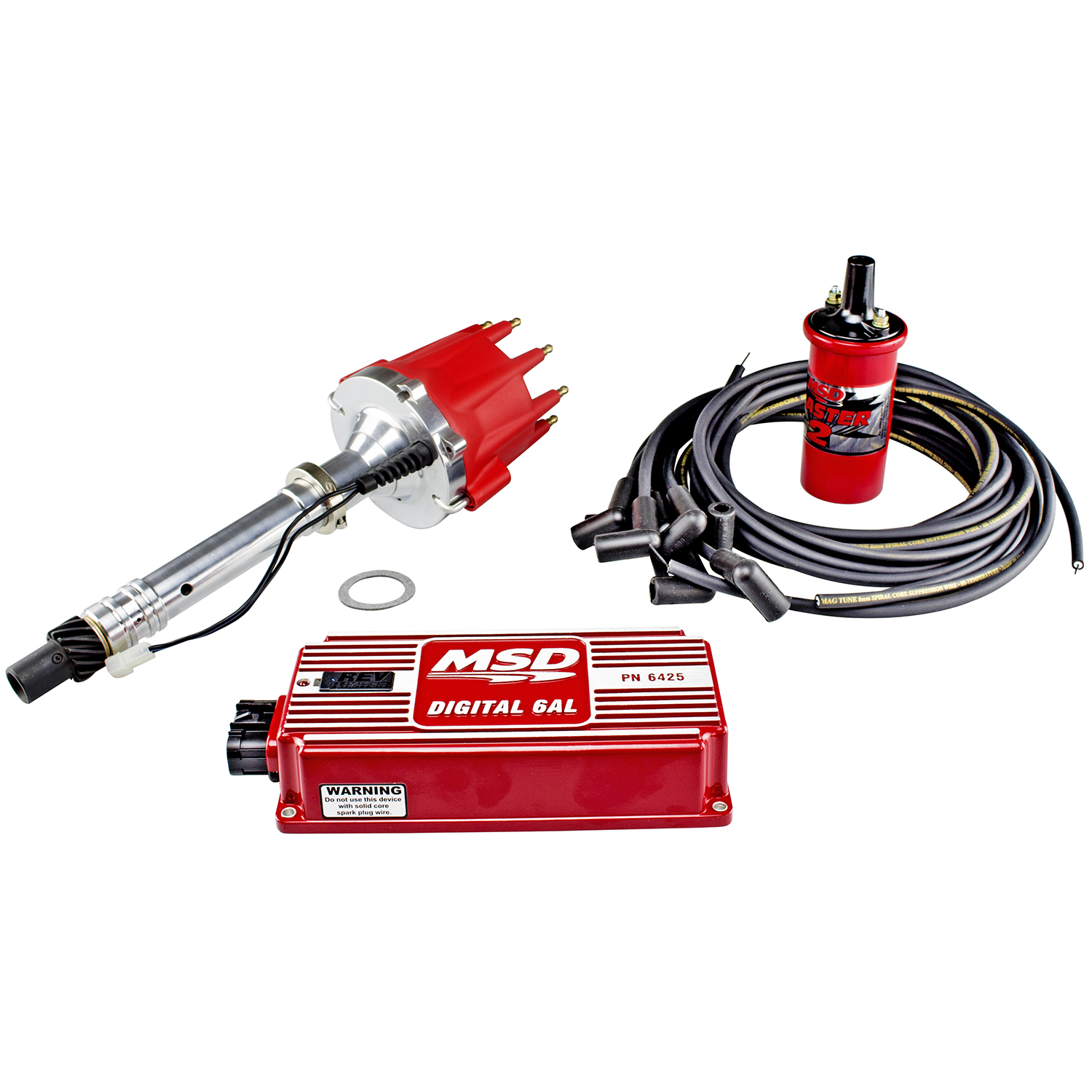 hight resolution of power products billet racing ignition kit chev sb bb w slip collar red or black