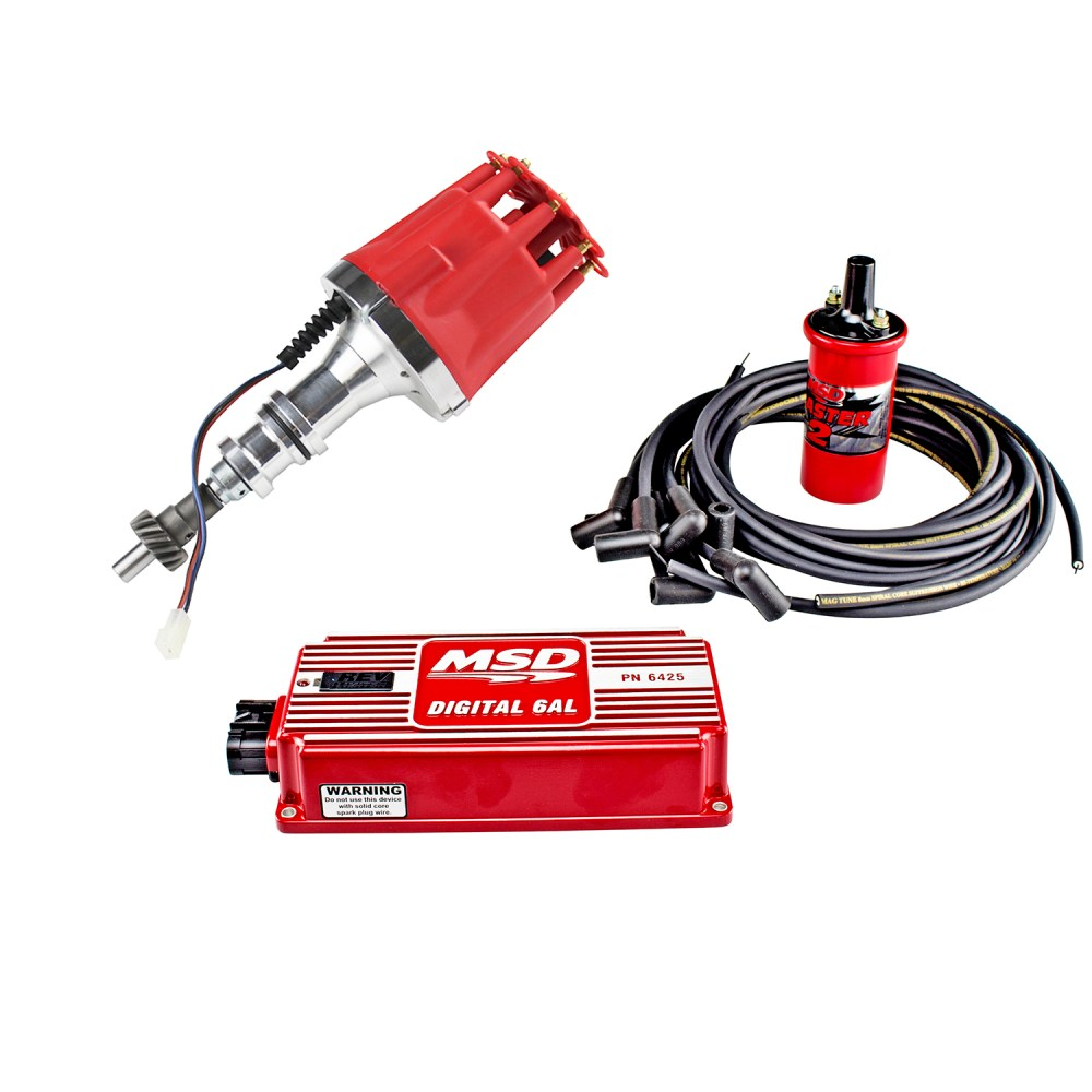 medium resolution of power products billet racing ignition kit ford 351c m 429 460 red or black
