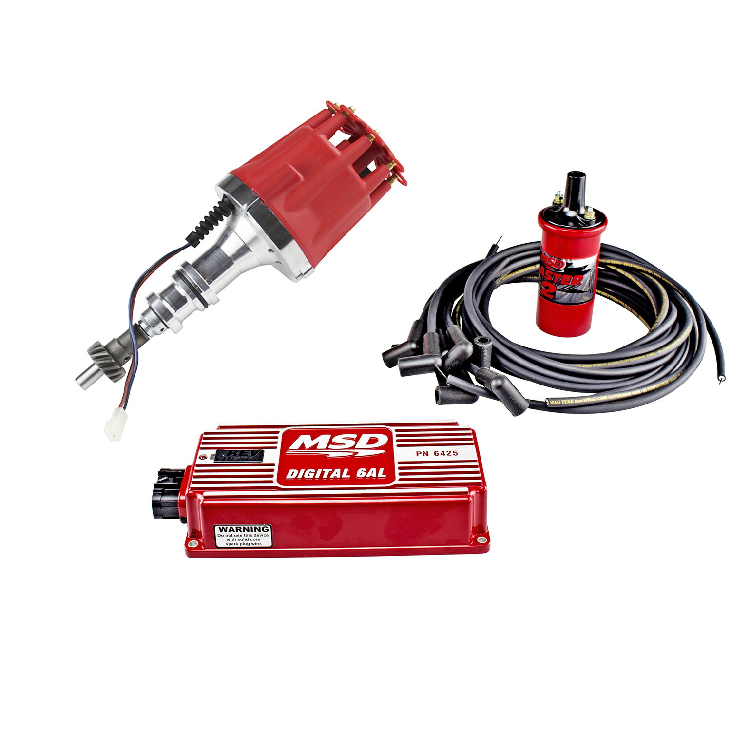 hight resolution of power products billet racing ignition kit ford 351c m 429 460 red or black