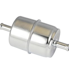 power products chrome inline fuel filter 3 8 inlet outlet [ 1500 x 1500 Pixel ]