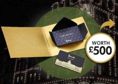 WIN A FREE £500 SHOPPING SPREE AT HARRODS!