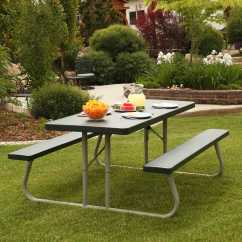 Foldable Table And Chairs Garden Reclining Chair A Half Slipcover Lifetime 22123 Picnic Green On Sale With Fast & Free Shipping