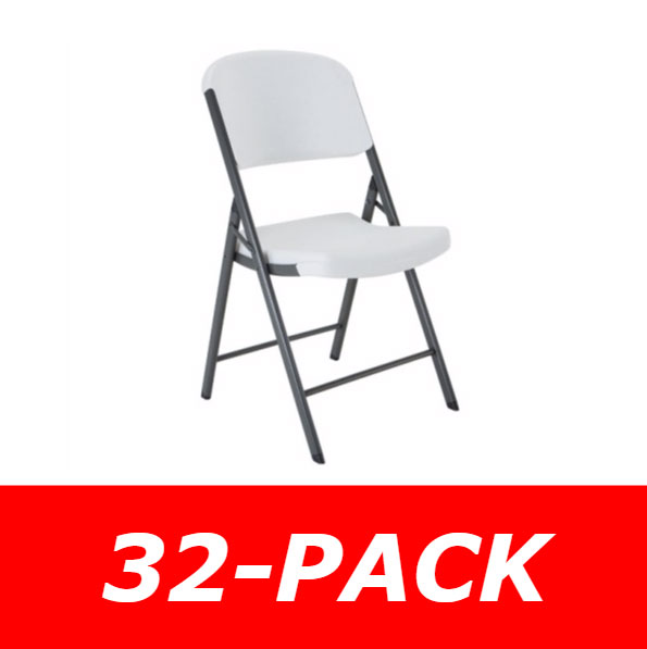 chairs in bulk antique leather swivel chair packs lifetime plastic folding 32 pack