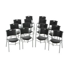 Lifetime Stacking Chairs 2830 Black Molded Seat Chair Sit To Stand Norms 42830 Stackable 4 Pack