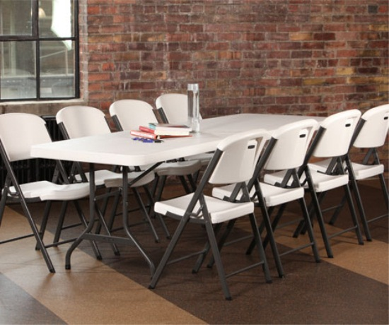 Lifetime 22980 White 8 Banquet Table on Sale with Fast
