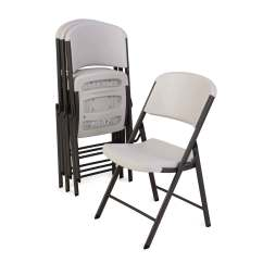 Lifetime Plastic Chairs Philippines Ikea Tub Chair Covers Canada 42803 Almond Folding On Sale With Fast