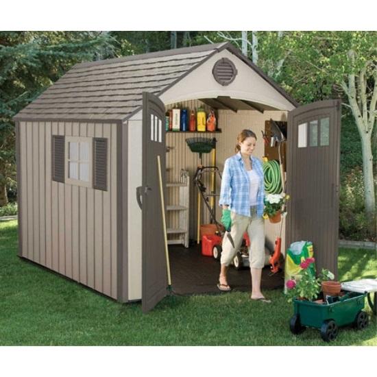 Lifetime Storage Sheds 60085 Plastic Outdoor Shed 8x10