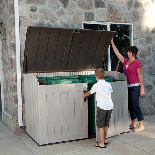 Lifetime Outdoor Garbage Bin 60203 Horizontal Storage Shed