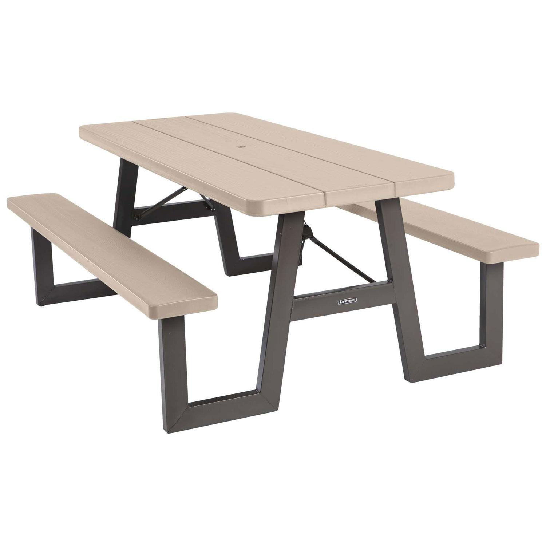 60126 Lifetime 6Foot WFrame Folding Picnic Table