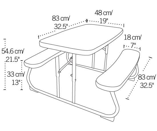 80156 Lifetime Children's Picnic Table Pink Folding Table