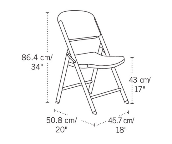 Lifetime Folding Chairs  80186 Putty Colored  4 Pack