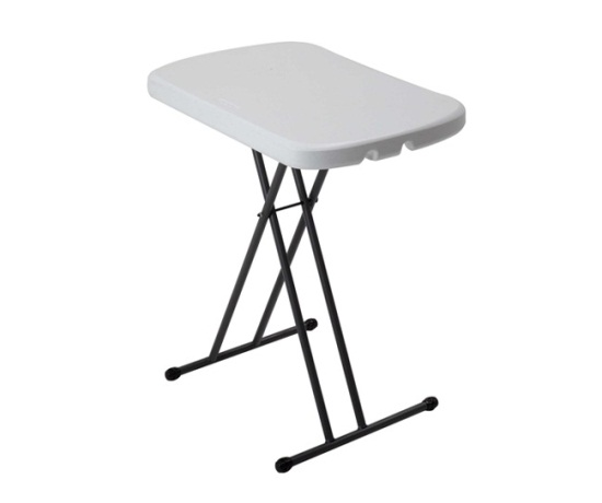 foldable chairs picnic renetto canopy chair lifetime folding tables 80251 white granite 26-in adjustable personal table