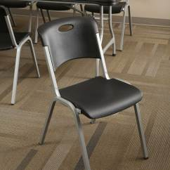 Lifetime Plastic Chairs Philippines Tall Directors Chair With Side Table Premium Black Stacking 80310