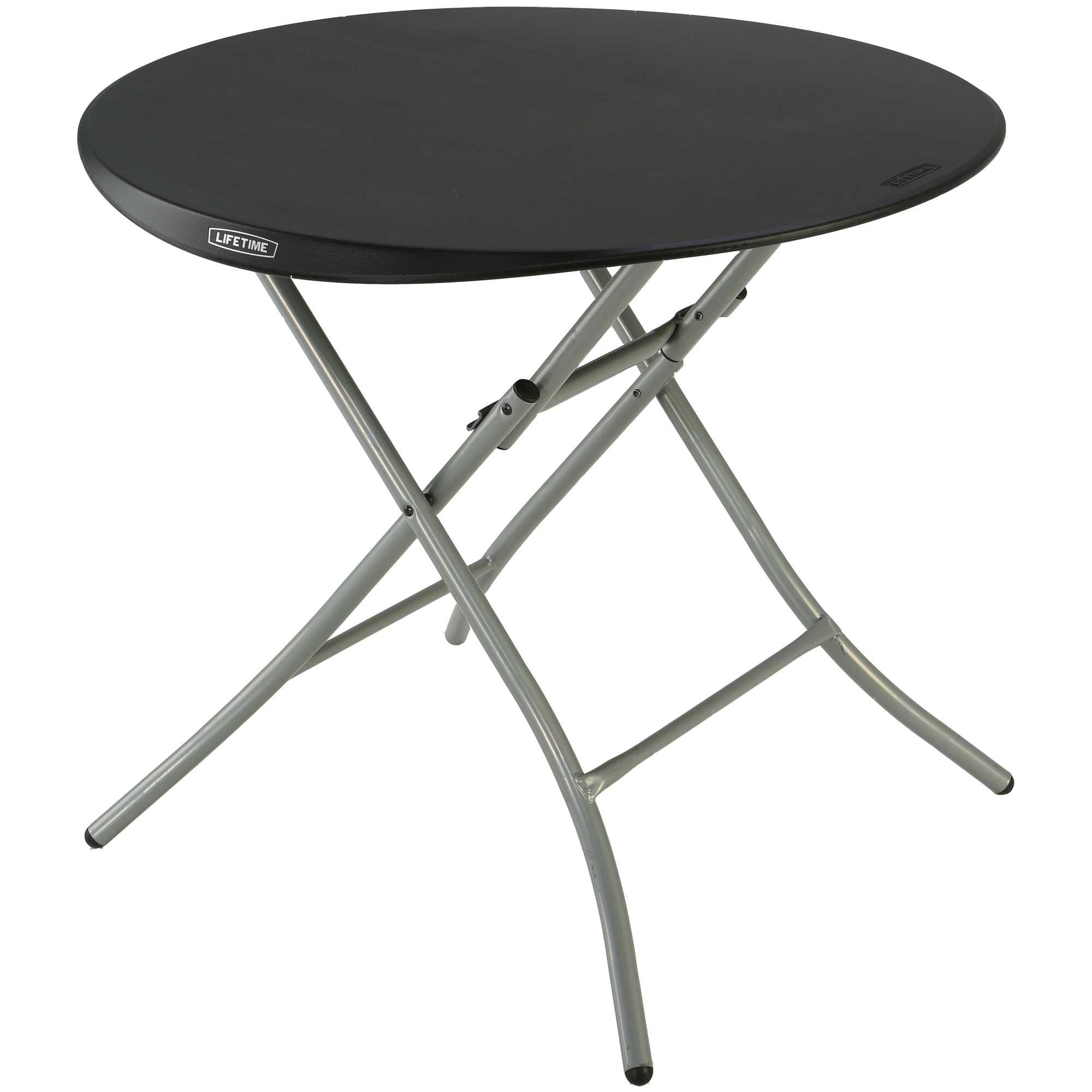 folding tables and chairs bulk carolina chair table bar stools lifetime 33 in round black