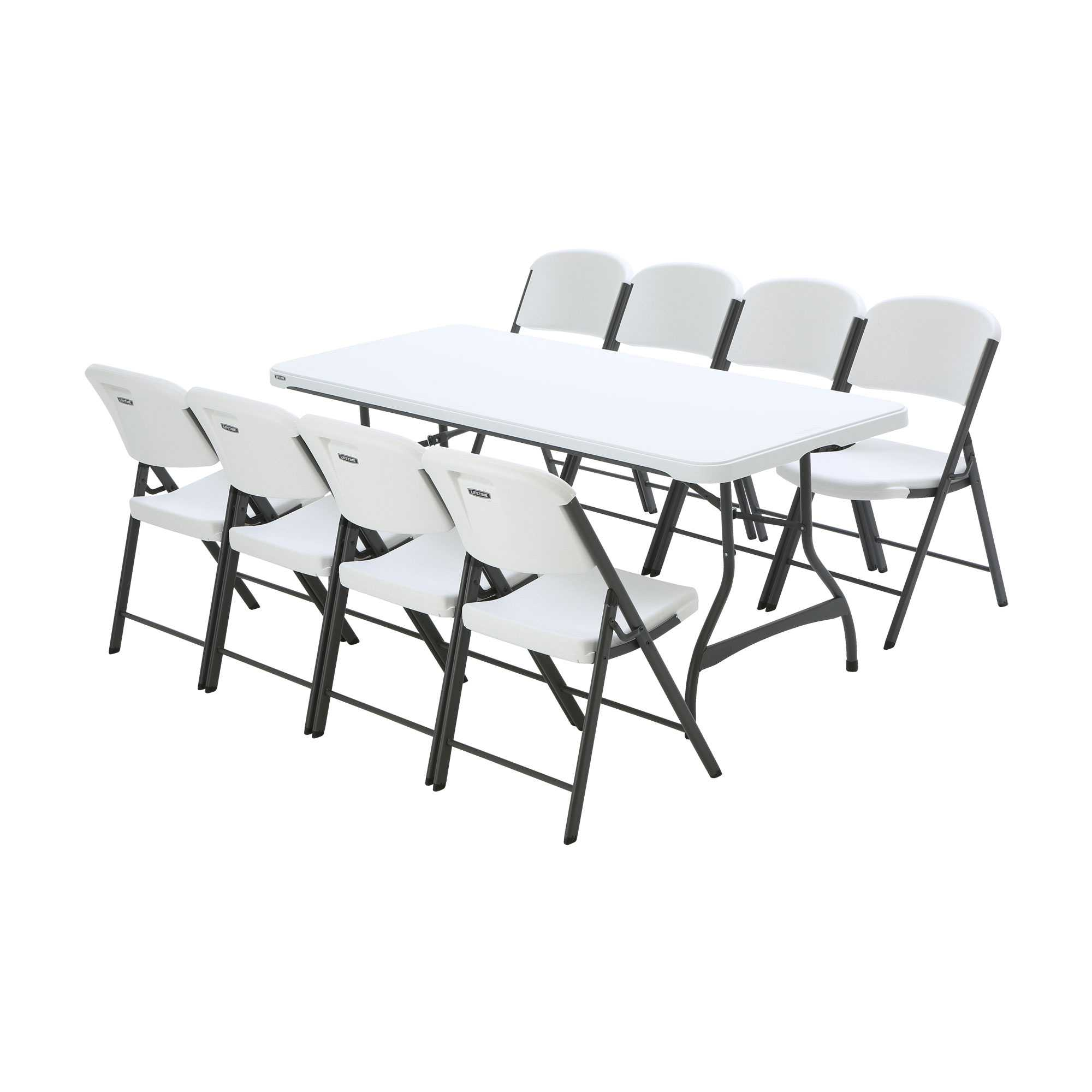 lifetime chairs and tables dining room table with 1 8 chair package on sale fast