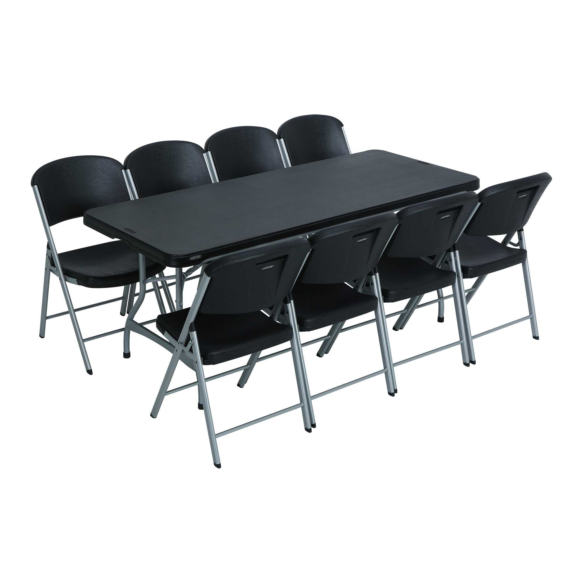 Lifetime 6 Ft Rectangular Tables  Chairs Black Fast