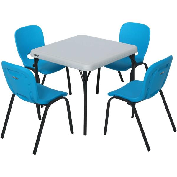 Lifetime Kids Table and Stacking Chairs 80499 1 Table and