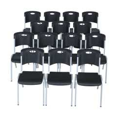 Lifetime Stacking Chairs 2830 Black Molded Seat Disney High Chair Premium 80310