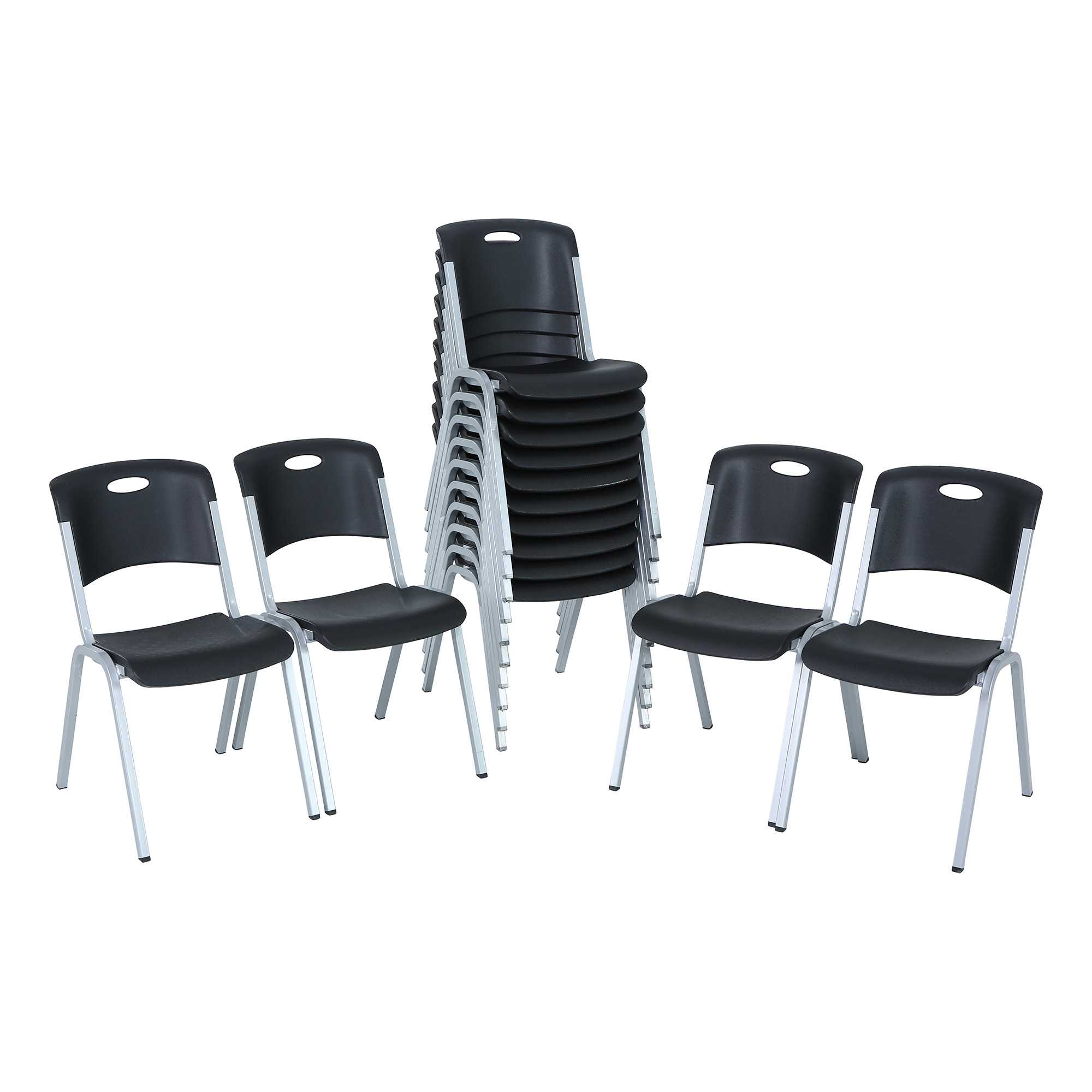 lifetime stacking chairs 2830 black molded seat unusual leather chair premium 80310