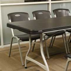 Lifetime Chairs And Tables Modern Executive Office Chair 880462 Black 8 39 Table 27 Pack On Sale With Free