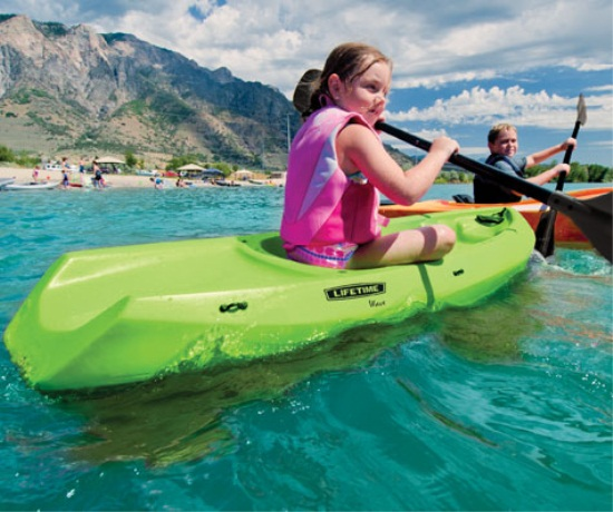 Lifetime Youth Wave Kayaks  90393 Lime Green 6Foot Sit