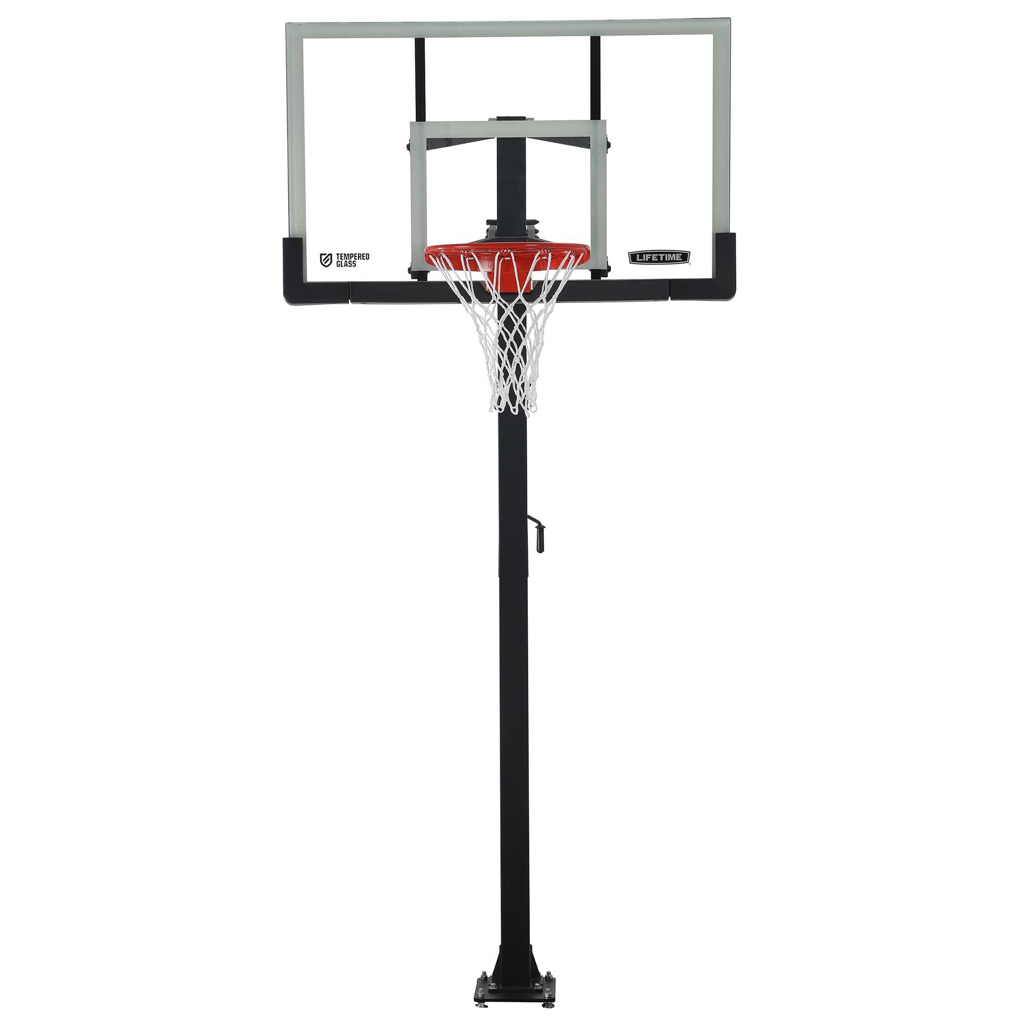 Lifetime 60 Inch Glass Basketball Goal On Sale Free Shipping