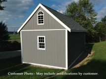 Barns Arlington 12x16 Wood Shed Kit With Fast