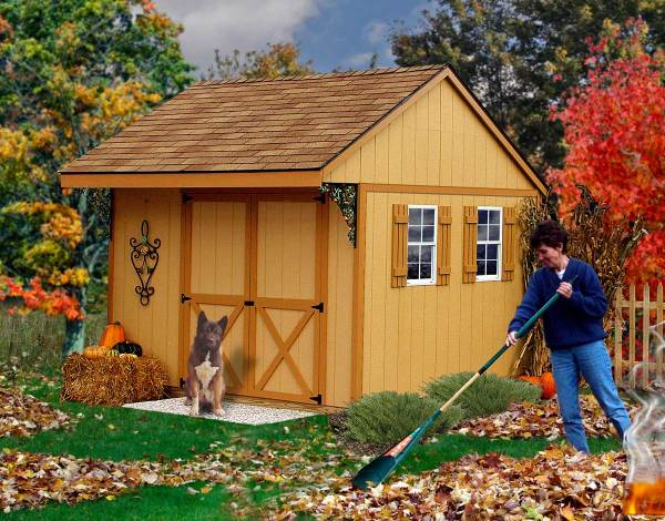 Barn Northwood 10' Wooden Storage Shed With