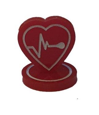 Heart token single closeup