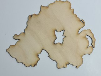 N.I. plywood outline map