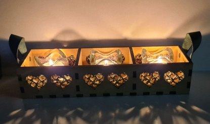 Tea light holder night view2`