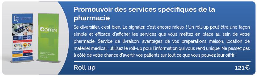 Promouvoir des services spécifiques de la pharmacie