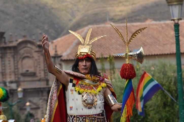 El Inca, durante la celebración de Inti Raymi.