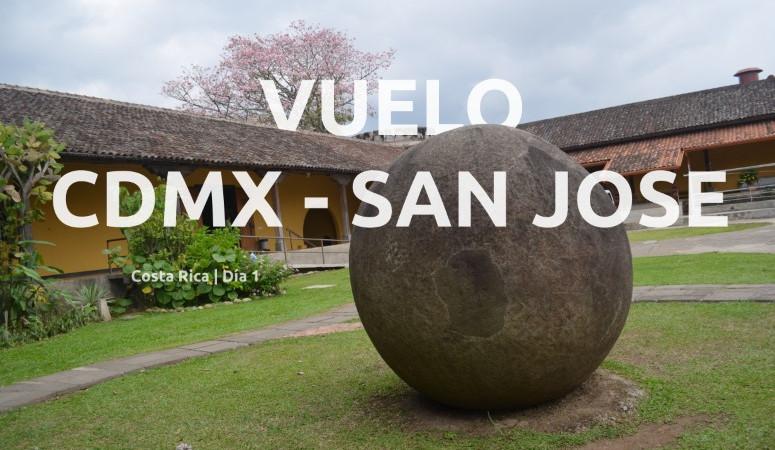 Costa Rica, día 1. Vuelo CDMX - San José, CR.