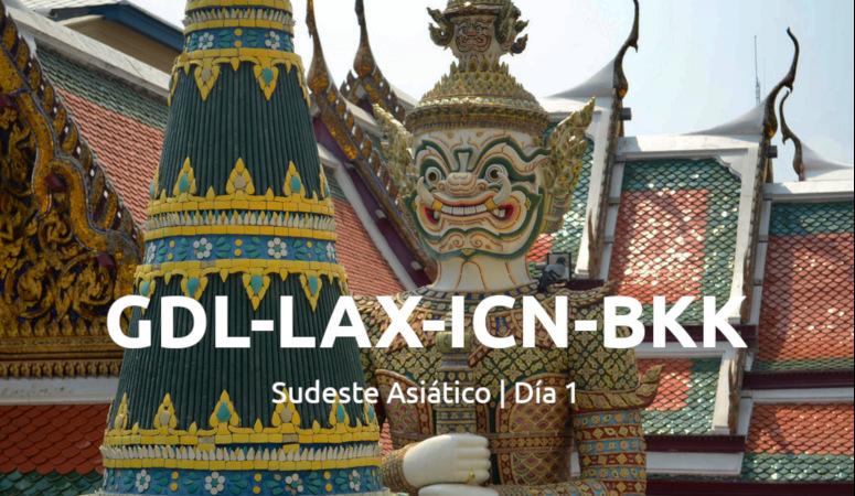 Vuelo a Bangkok, día 1.