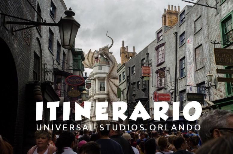 Itinerario Universal Studios Orlando. Portada.