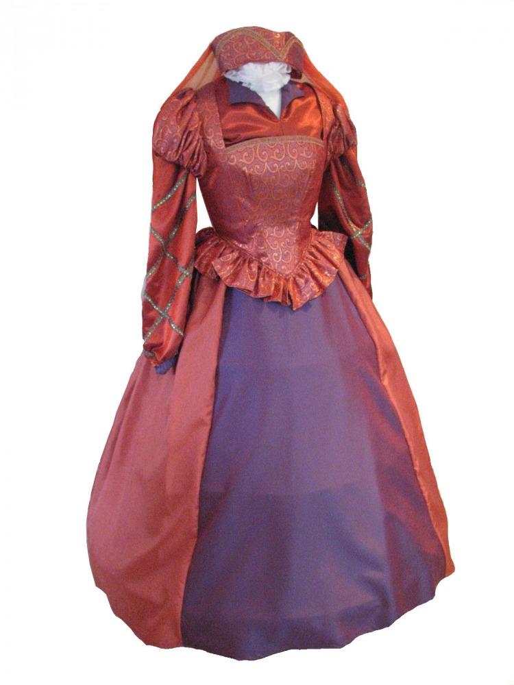 Ladies Tudor Elizabethan Costume and headdress  Complete Costumes Costume Hire