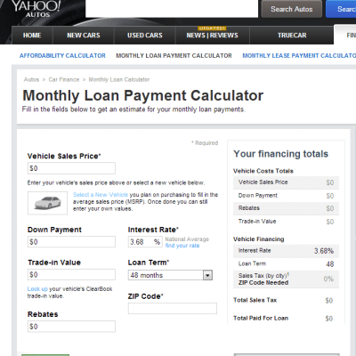 Using a Car Loan Calculator to Select an Auto Loan ...
