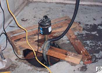 A Castle Rock sump pump system that failed and lead to a basement flood.