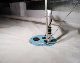 sump pump in crawl space