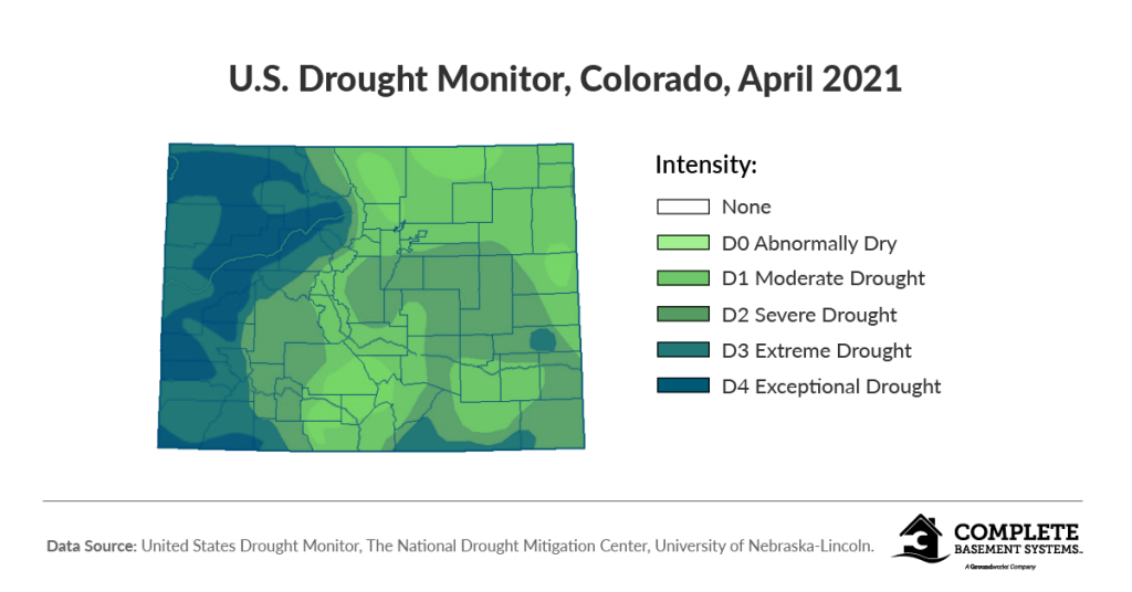 current drought map for Colorado