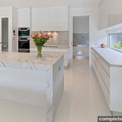 White Kitchen Bench Vinyl Flooring And Chic Design Completehome Carrera Bright Space